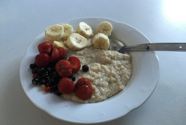 Healthy breakfast for runners