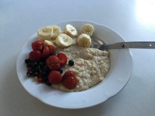 Healthy breakfast for runners
